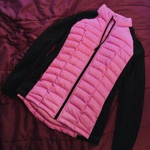 Neon Pink Quilt Fill Softshell Jacket  - Medium